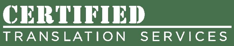Certified Translation Services Logo